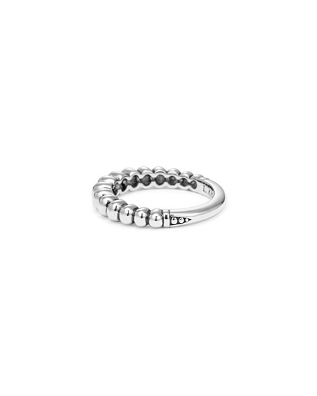 Fluted Sterling Silver Stacking Ring, Size 7