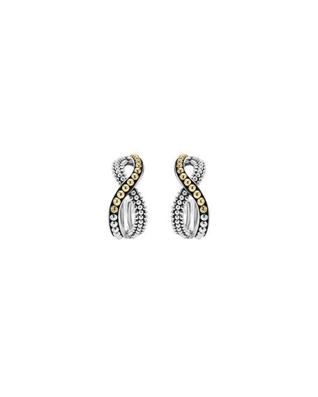 Lagos Sterling Silver & 18K Infinity Twist Hoop Earrings JJsCs