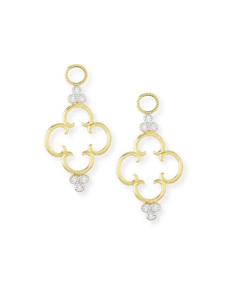 18K Clover Diamond Earring Charms