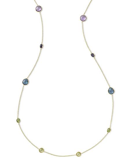 Ippolita 18k Rock Candy® Fall Rainbow Station Necklace,