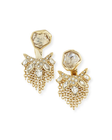 Alexis Bittar Kite Post Earrings w/Jagged Cluster Jacket