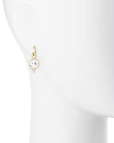 Provence White Topaz & Diamond Earring Charms