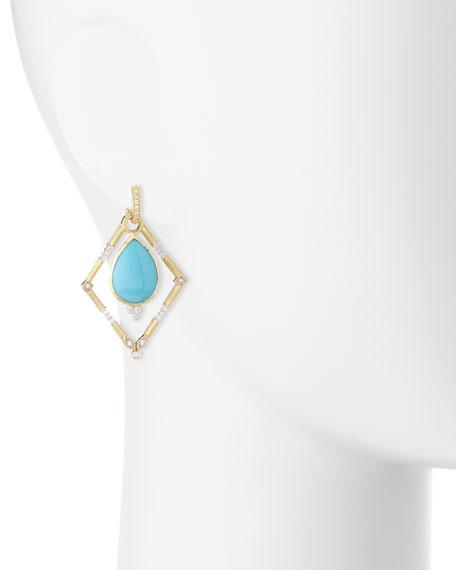 Lisse Simple Diamond Earring Charm Frames