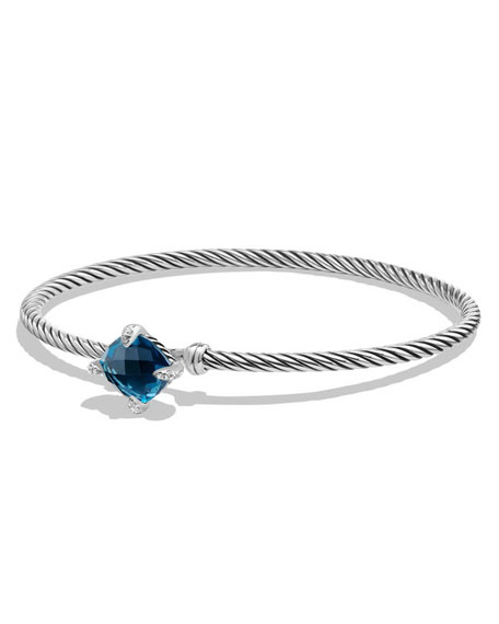 David Yurman 9mm Ch??telaine Bracelet with Hampton Blue