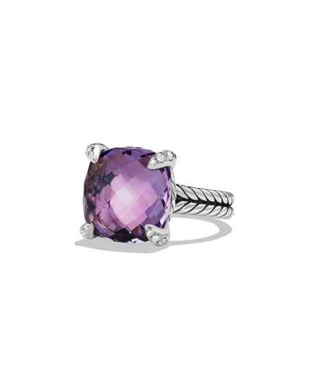 David Yurman 14mm Châtelaine Amethyst Ring
