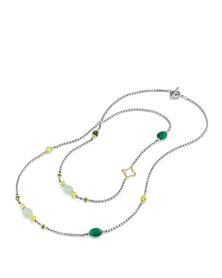 """Spring Bead Layering Necklace, 40"""""""