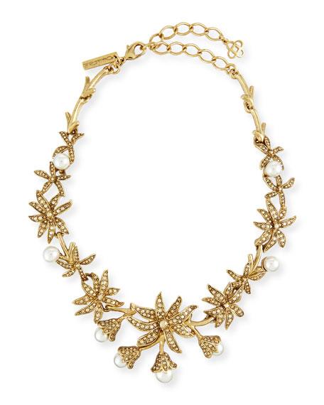 Swarovski® Pearl Flower Necklace