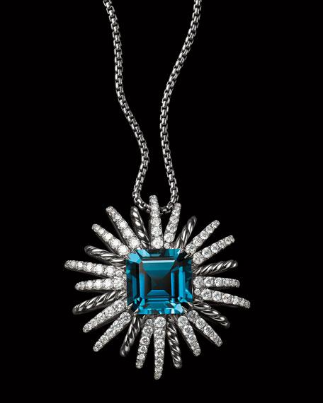 Starburst Hampton Blue Topaz Pendant Necklace