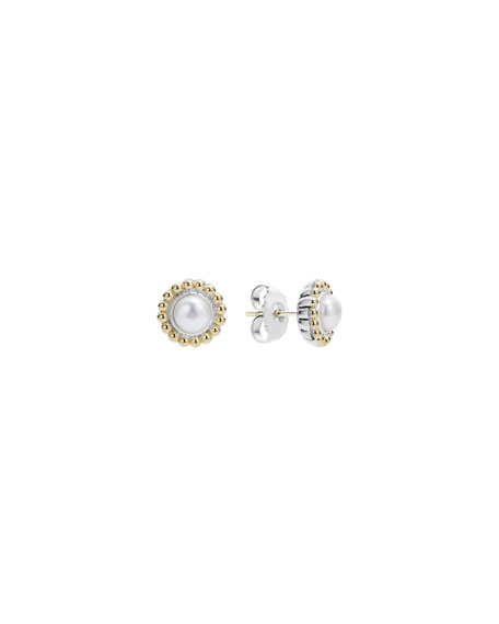 Lagos 6mm 18K Gold Luna Pearl Earrings