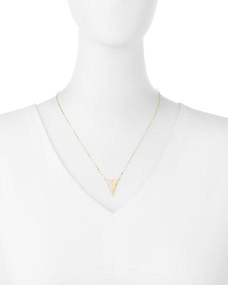 Electric Diamond Triangle Pendant Necklace