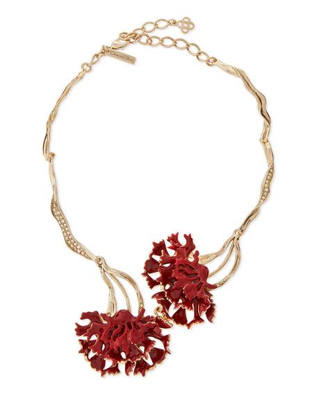 Oscar de la RentaSwarovski® Enamel Floral Collar Necklace,