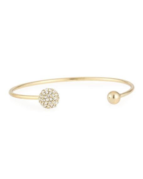 Pave Ball Cuff Bracelet