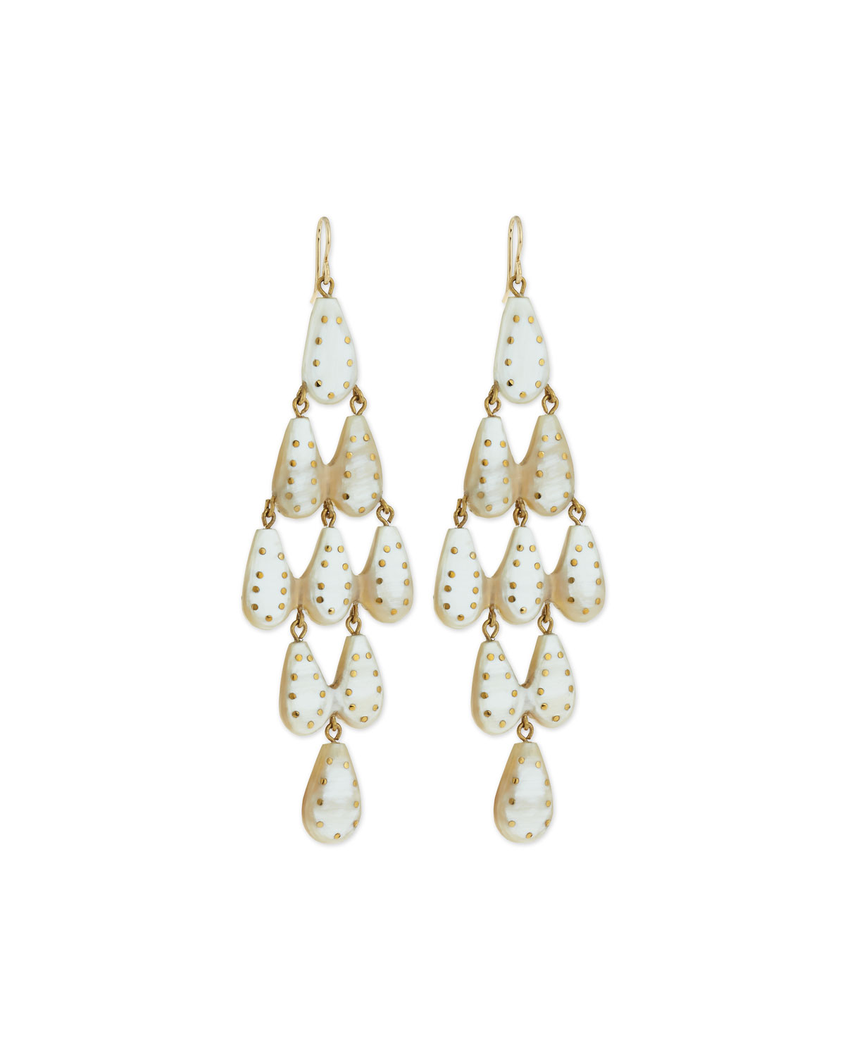 Ashley Pittman Densi Chandelier Horn Earrings QLgIVB