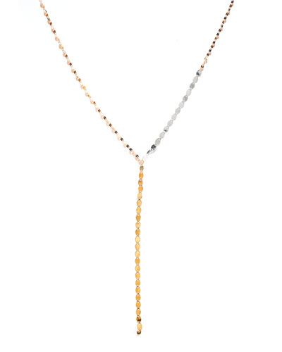 Tri Nude Lariat Disc Necklace