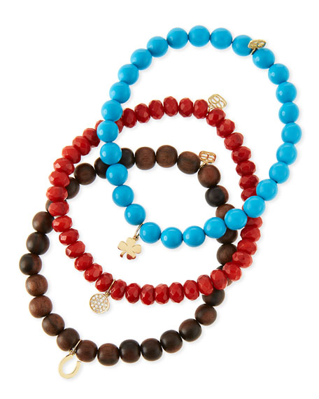 Sydney Evan Beaded Bracelet Sets with Charms