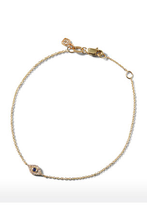 Sydney Evan Small Sapphire & Diamond Evil Eye Bracelet
