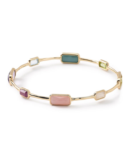 Ippolita 18K Rock Candy 8-Stone Bangle in Summer