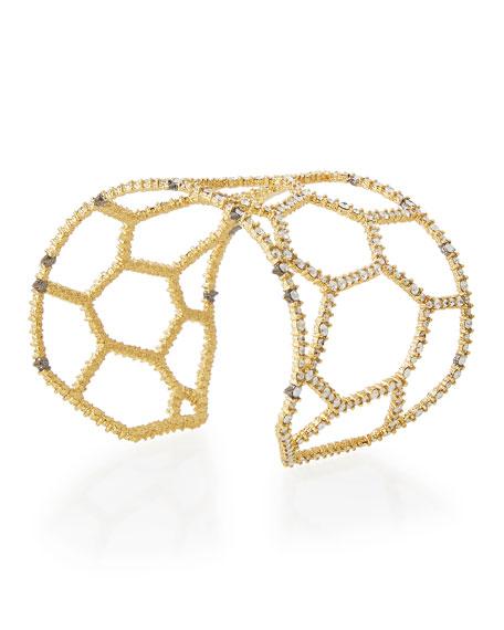 Crystal Honeycomb Cuff Bracelet