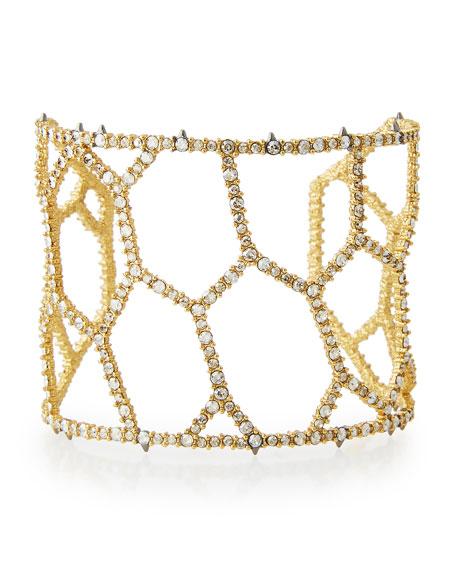Alexis Bittar Crystal Honeycomb Cuff Bracelet