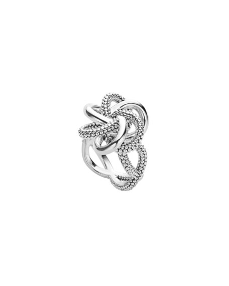 Sterling Silver Love Knot Ring, Size 7