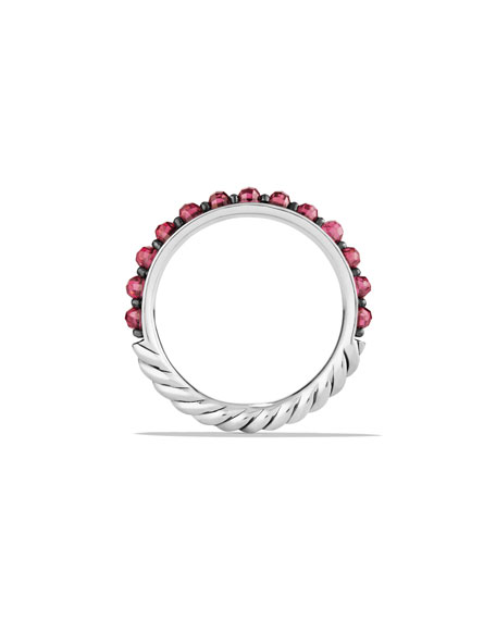 3mm Cable Berries Garnet Ring