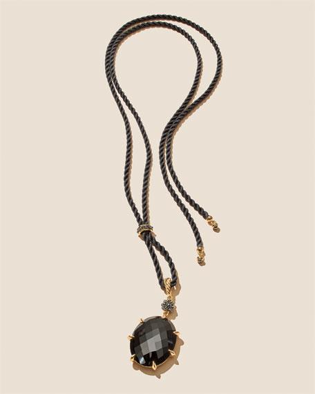 Osetra Black Onyx & Hematine Pendant Necklace