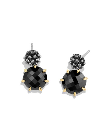 Osetra Hematine & Black Onyx Earrings