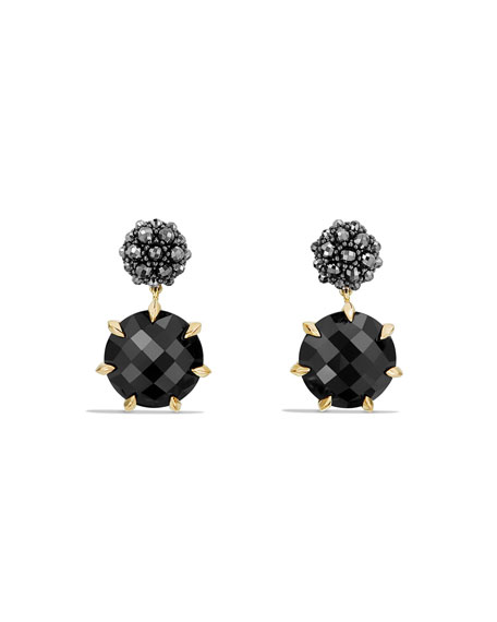 Osetra Hematine & Black Onyx Earrings