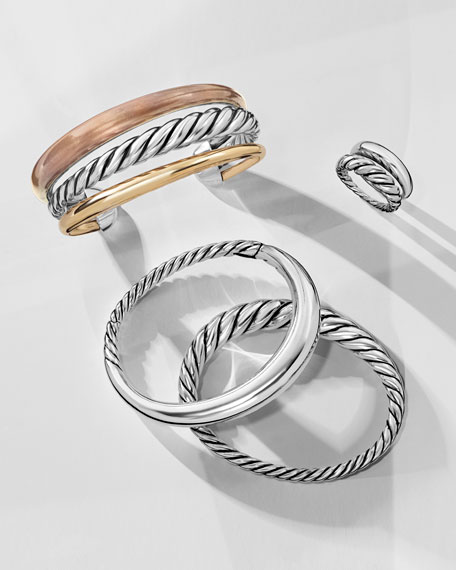 David Yurman Pure Form Stacking Rings, Set of Two