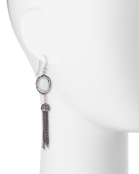 Louisa Mother-of-Pearl Dangle Earrings With Tassels