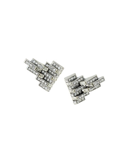 Lulu Frost Satellite Clip-On Crystal Earrings
