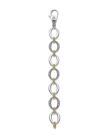Fluted Oval Caviar Link Bracelet