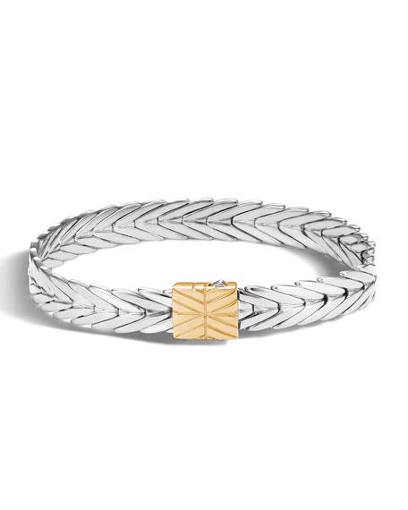 John Hardy Modern Chain Gold/Silver 8mm Rectangular Bracelet