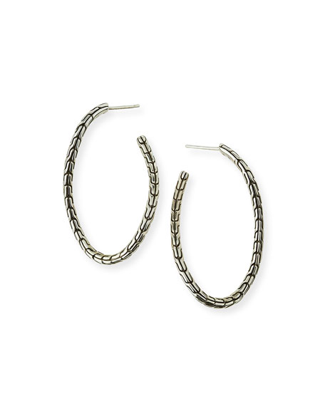 John Hardy Classic Chain Sterling Silver Twisted Hoop