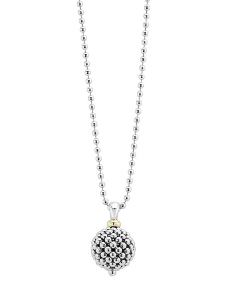 Lagos Caviar Forever Ball Pendant Necklace, 34