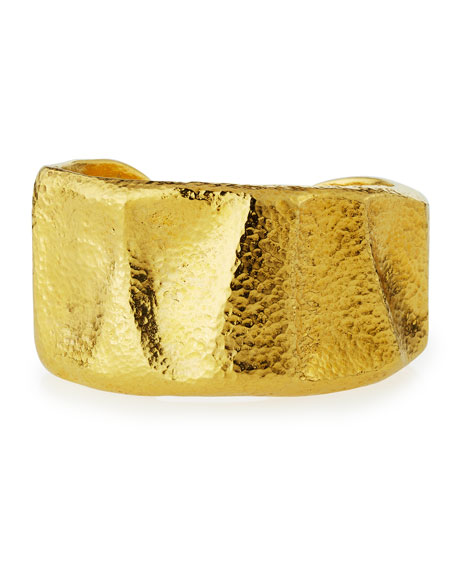 Jose & Maria Barrera Hammered 24K Gold-Plated Bangle