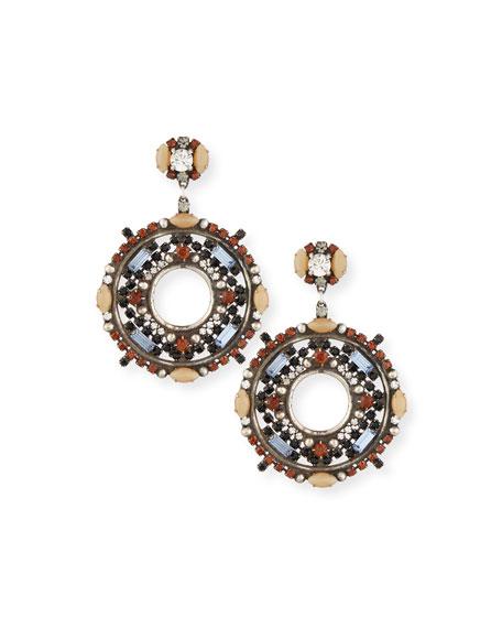 Dannijo Estella Crystal Hoop Earrings