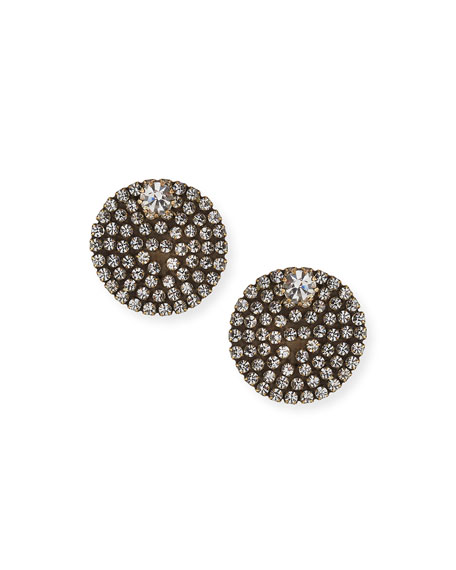 Auden Eclipse Crystal Button Earrings