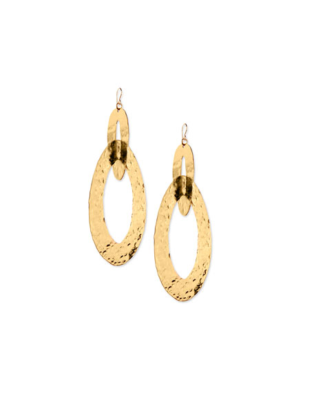 Devon Leigh Large Hammered Double-Hoop Earrings