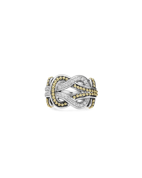 Large Newport Diamond Knot Ring, Size 7