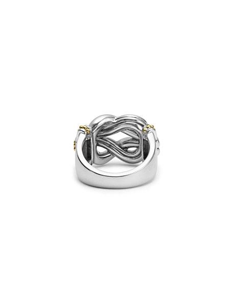 Large Newport Diamond Knot Ring, Size 7