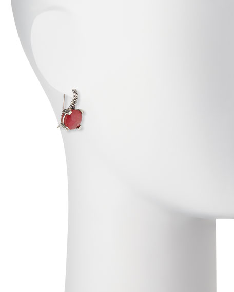 Drop Earrings, Red Quartzite