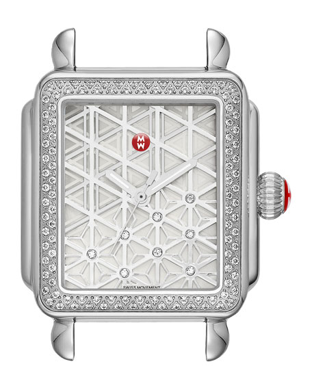 MICHELE 18mm Deco Diamond, Layered Diamond Watch Head