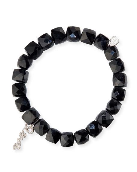 Sydney Evan Black Spinel Beaded Bracelet with 14k