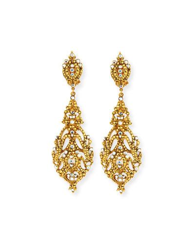 Austrian Crystal Pendant Earrings