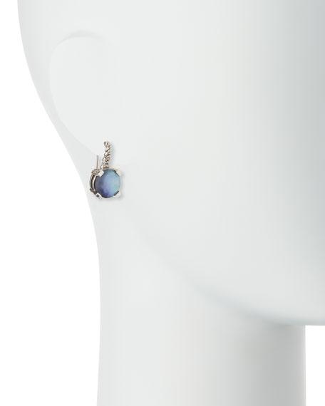 12mm Round Hematite & Quartz Doublet Drop Earrings