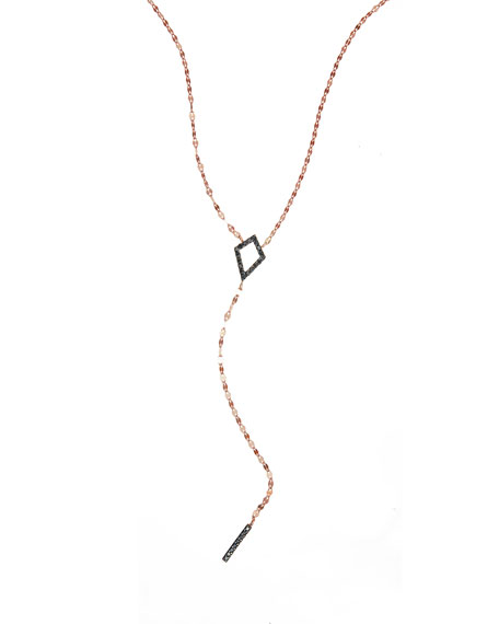 LANA Reckless Rose Kite Bar Lariat Necklace