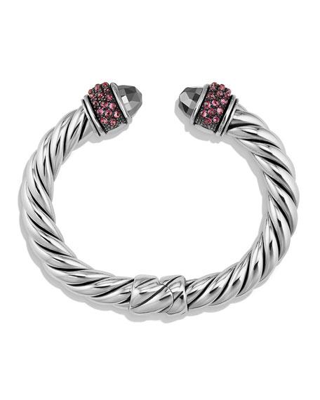 Osetra Hematine & Rhodolite Garnet Bracelet