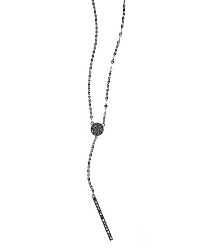 Reckless Diamond Bar Lariat Necklace