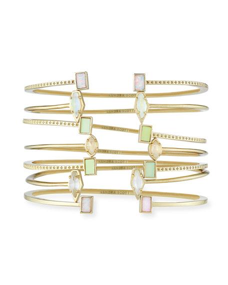 Kendra Scott Kinsley Bracelet Set in Yellow Gold